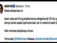Musisi Legendaris Indonesia Adie MS Puji Akram Bocah Dermawan Asal Pangkep
