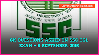 SSC CGL Questions 6 September 2016