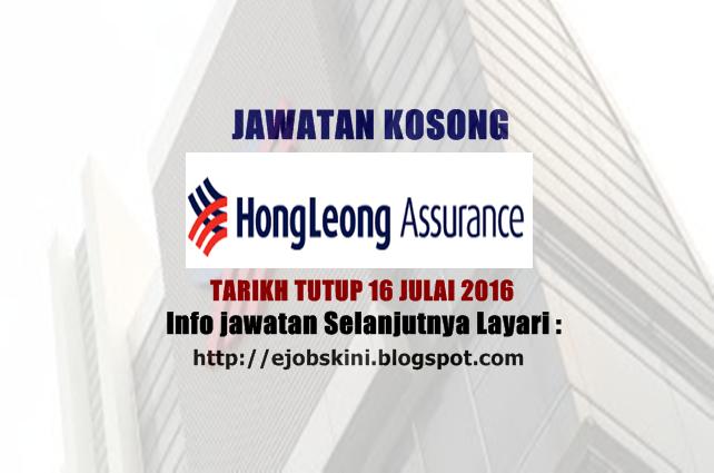 Jawatan Kosong Hong Leong Assurance Berhad