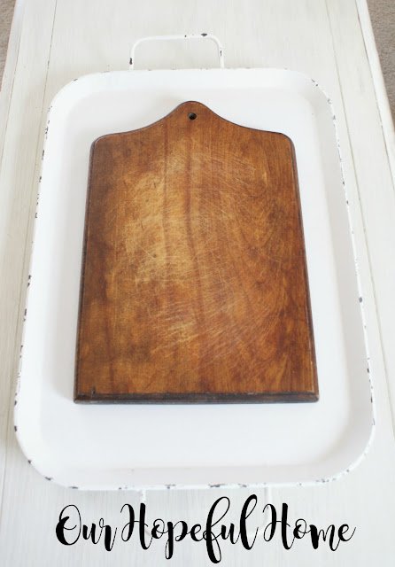 thrift store wooden cutting board