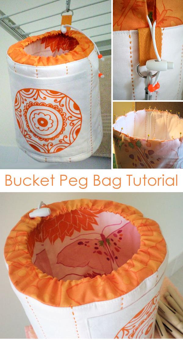 Bucket Peg Bag Tutorial