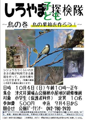 しろやま子ども探検隊~鳥の巻 鳥の巣箱を作ろう~