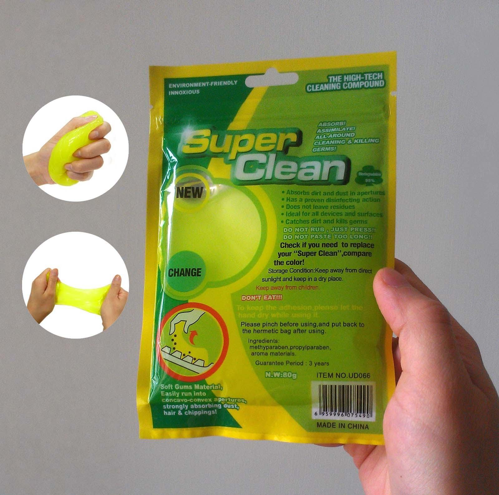 SUPER CLEAN 多用途清潔軟膠 / 除塵軟膠 / 神奇鍵盤清潔膠 / 神奇清潔膠 哪裡買 / 清潔鍵盤的 軟膠 / 鍵盤清潔膠 ...