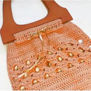 Bolso con manija a Crochet
