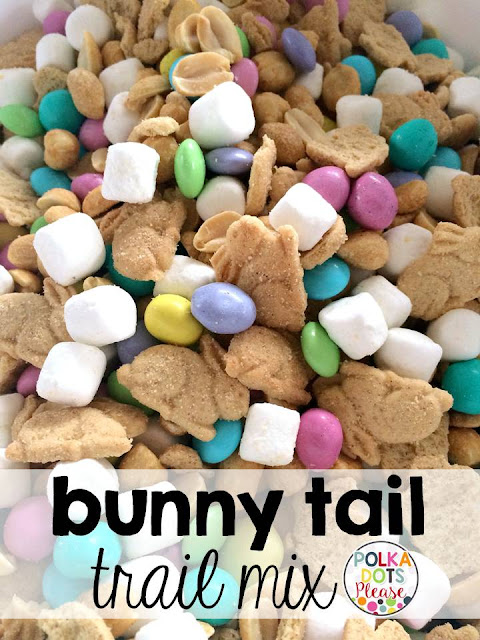 bunny tail trail mix - spring desserts and treats