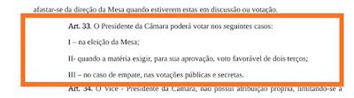 Presidente da Câmara de Chapadinha votou irregularmente