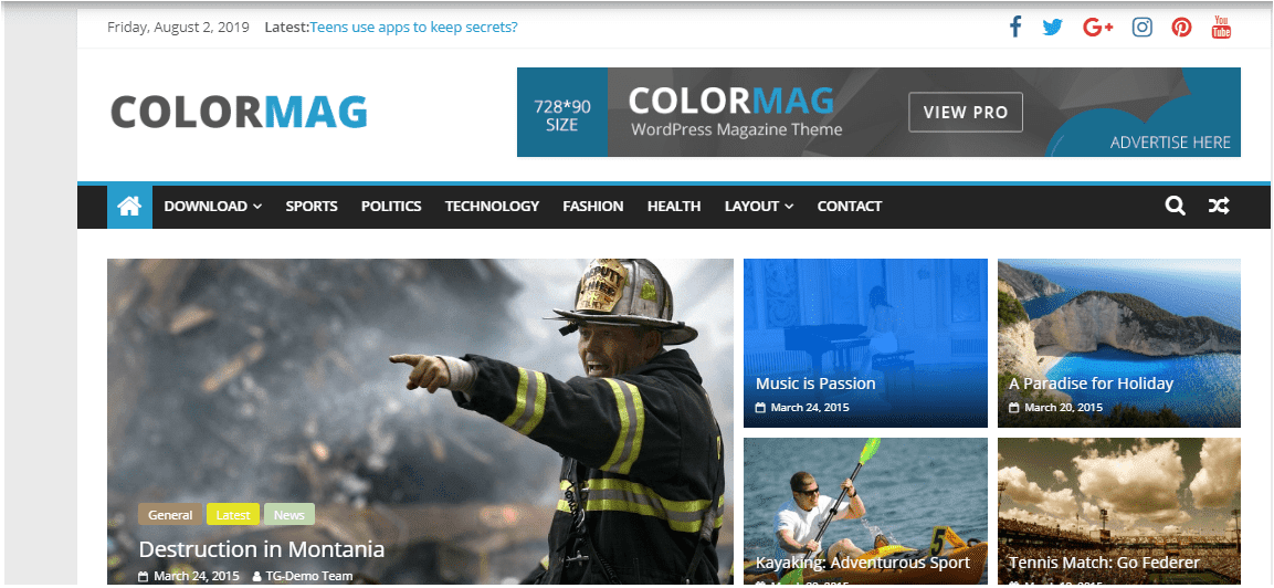 Colormag Wordpress themes free download