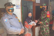Babinsa Kel.Angke, Koramil 02/TB Didampingi Tiga Pilar Distribusikan Bantuan Pangdam Jaya