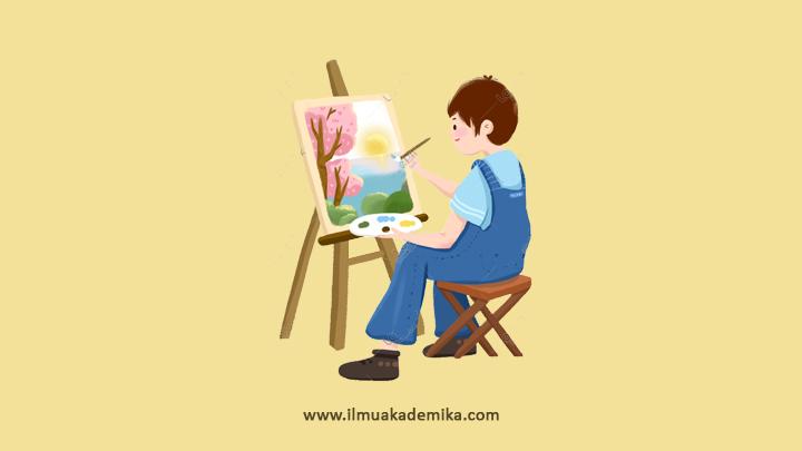 cerita bahasa arab tentang hobi menggambar