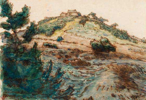 Жан Франсуа Милле - Ферма на холме. 1867