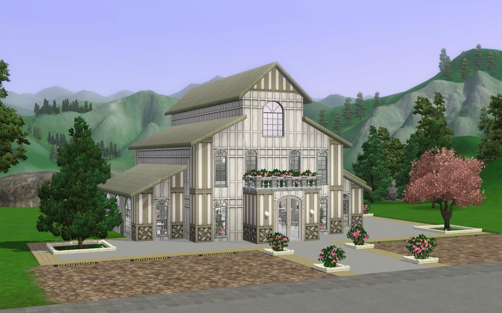 Summer's Little Sims 3 Garden: Dove's Blessing Wedding Chapel