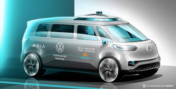 Volkswagen planeja Kombi elétrica e autônoma nível 4 em 2025 - ID.Buzz