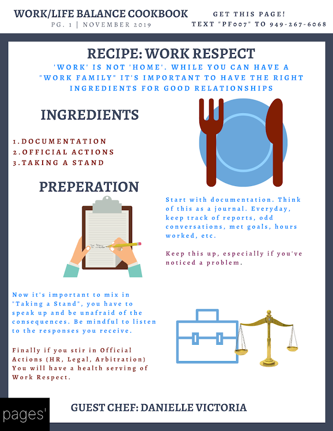 Work Respect: Work/Life Balance Cookbook