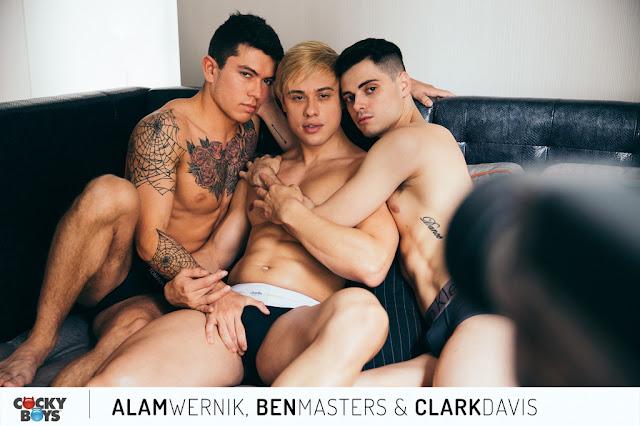 Cockyboys - New Exclusive, Alam Wernik,  Ben Masters & Clark Davis in HOT Threeway!