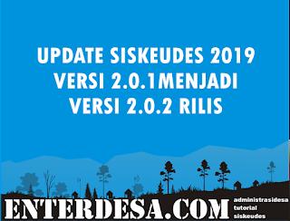 Update Siskeudes 2019 versi 2.0.1 ke 2.02 Rilis