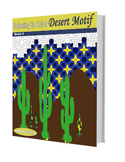 Relax in Color Desert Motif Adult Coloring Book