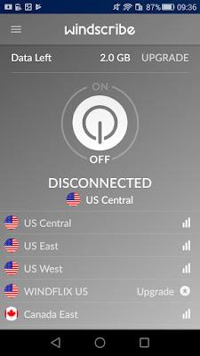 تطبيق Windscribe VPN للأندرويد, تطبيق Windscribe VPN مدفوع للأندرويد, Windscribe VPN apk