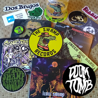 Get a Doom Tomb sticker and a FREE CD from The Swamp Records