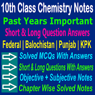 All Federal Board Chemistry Past Papers With Solved Short And Long Question Answers