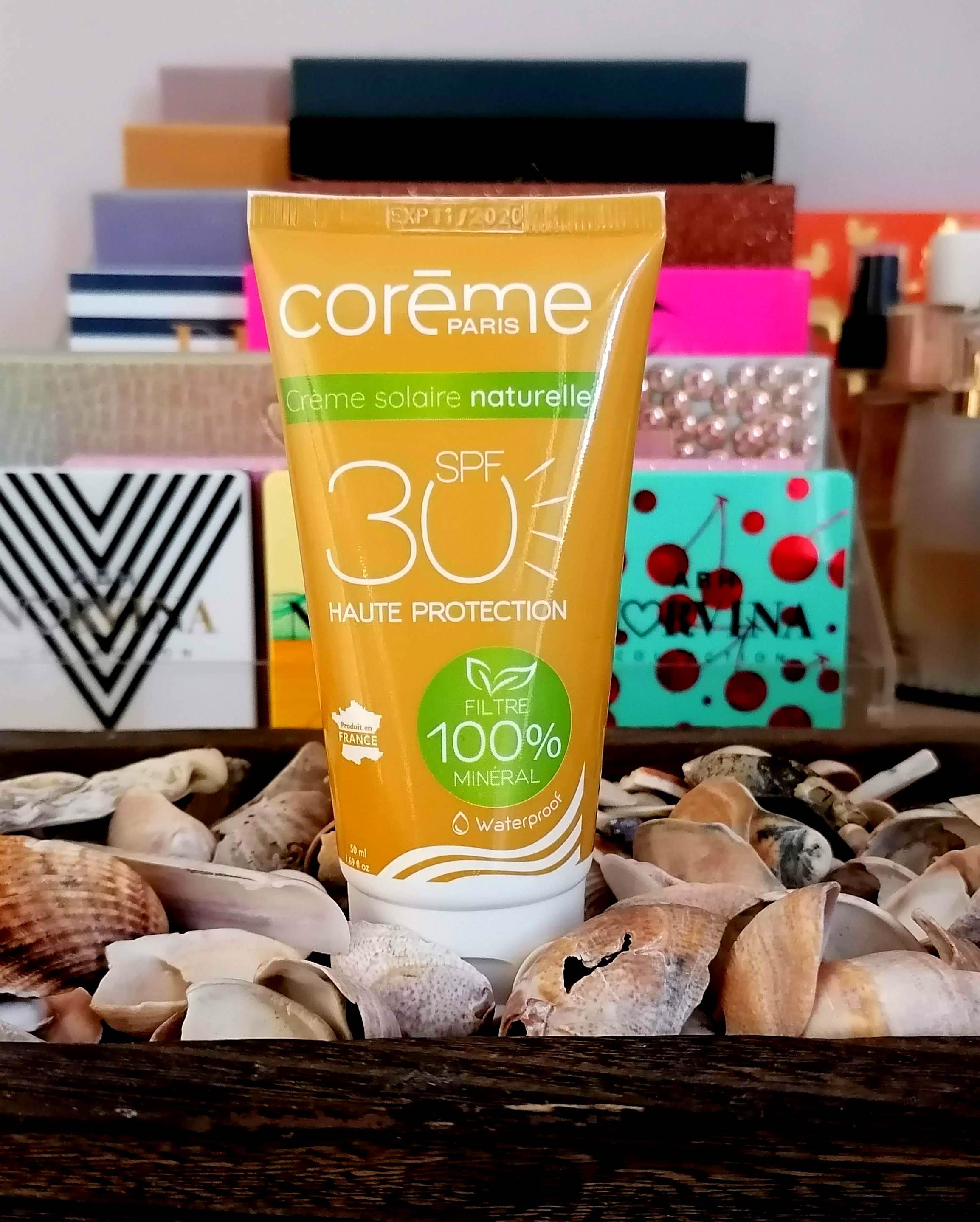 Crème Solaire Naturelle SPF30 de chez Corème
