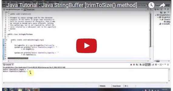 Java ee java tutorial java stringbuffer trimtosize for Pool design pattern java