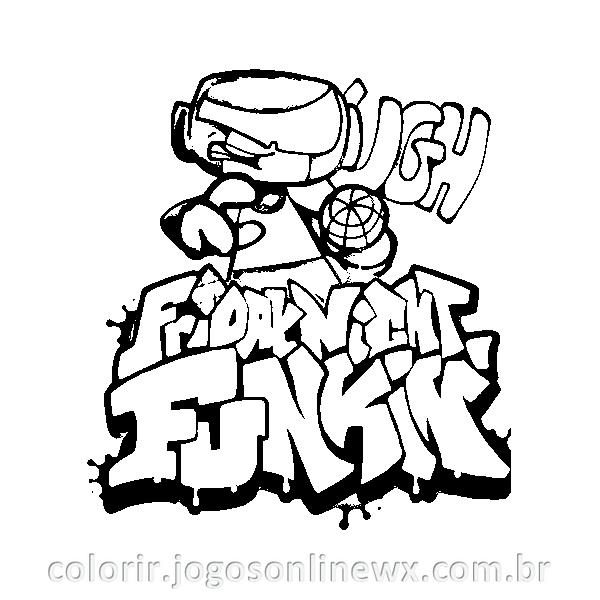 Friday Night Funkin Tankman para Colorir