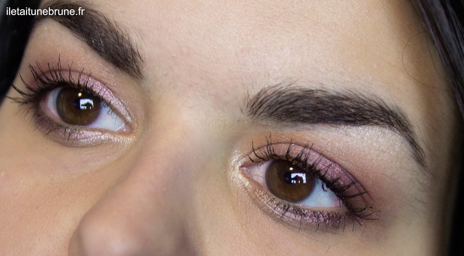maquillage des yeux vieux rose léger et lumineux