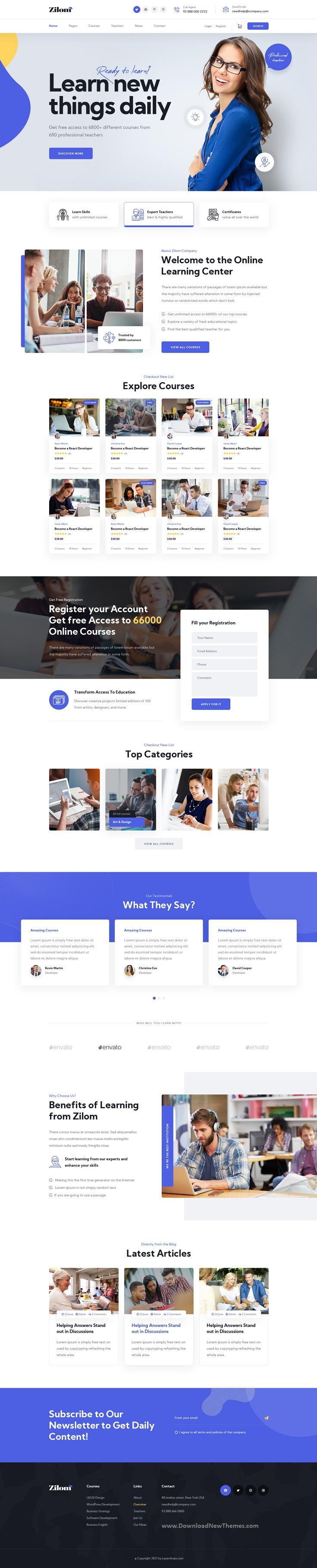 Online Education Learning Photshop Template