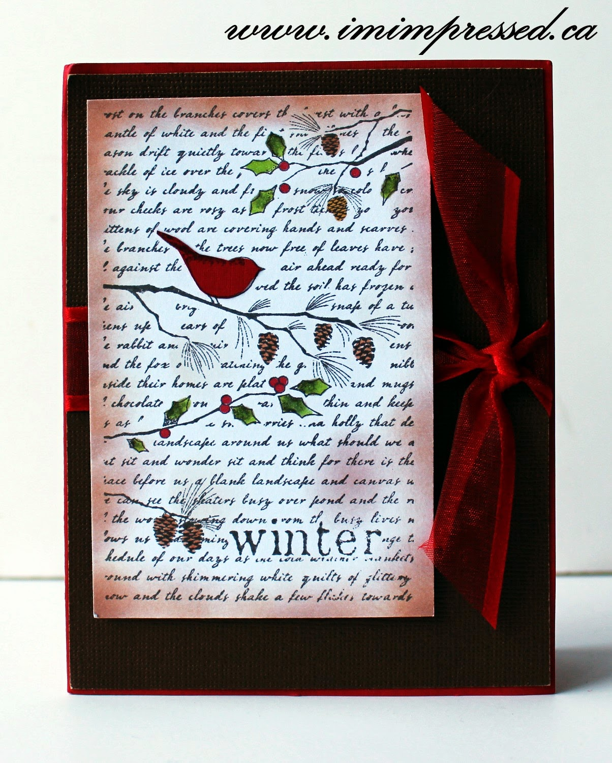 I M Impressed Paper Arts Homemade For The Holidays Event