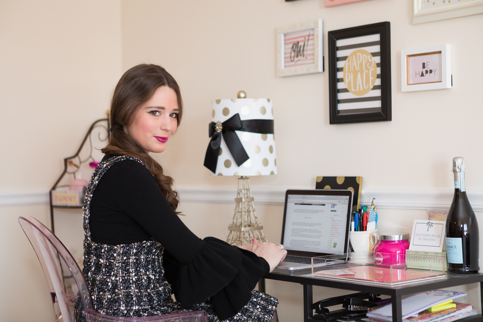 Southern Belle in Training - Home Office Tour