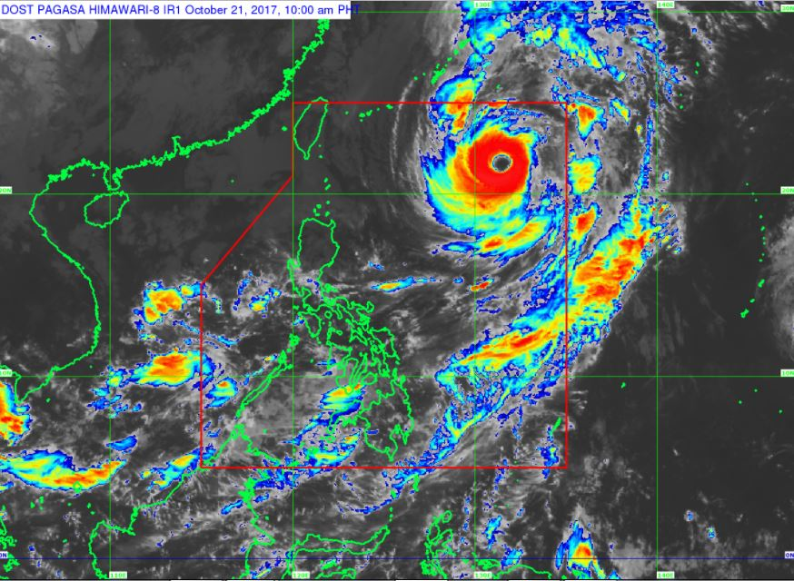 Typhoon Paolo HIMAWARI-8 satellite image courtesy of DOST-PAGASA