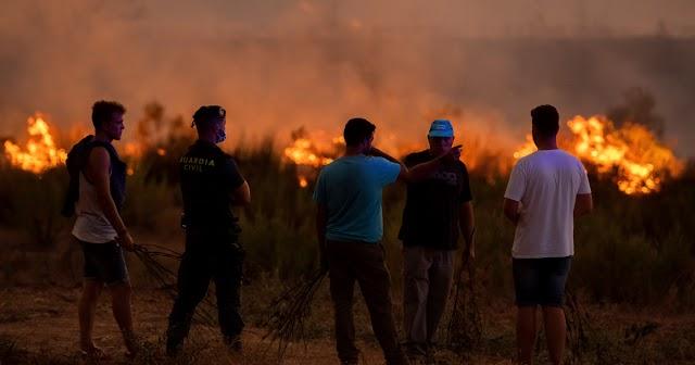 Ezer hektár erdő égett le egy nap alatt Spanyolországban
