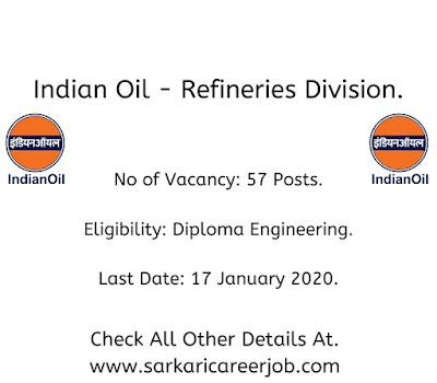 IOCL Recruitment 2020 latest government job vacancies.