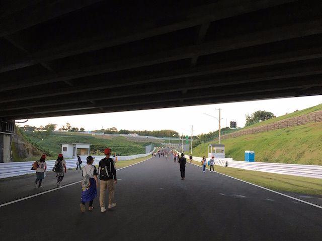 F1日本グランプリ2017 西コーストラックウォーク 立体交差