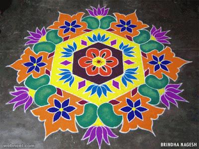 Happy Pongal Rangoli Design