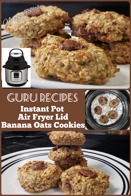 Air Fryer Banana Oats Cookies | Instant Pot Air Fryer Lid Cookies