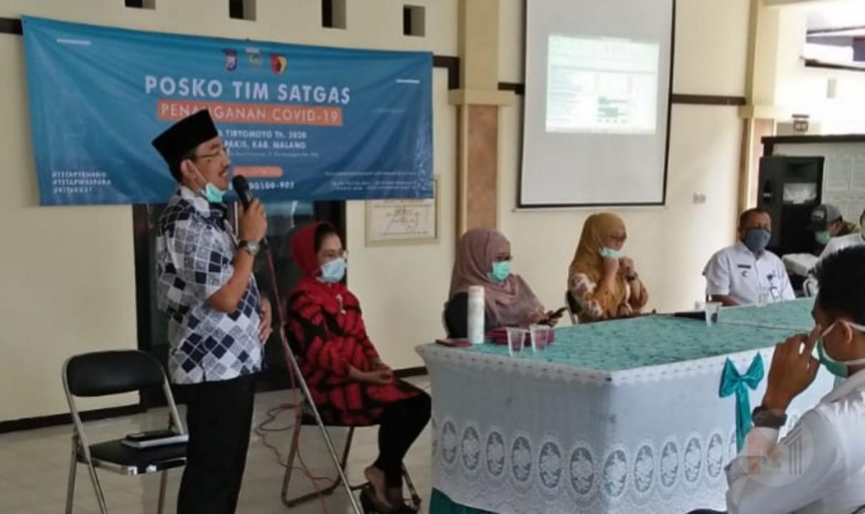 Ketua Fraksi PKB Kabupaten Malang Kunjungi Desa Yang Masuk Zona Merah Covid-19 Di Pakis