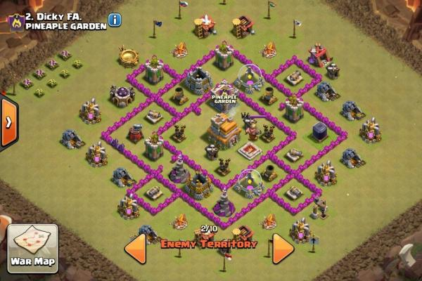 Base War Terkuat Coc Town Hall 7 Anti Bintang 3
