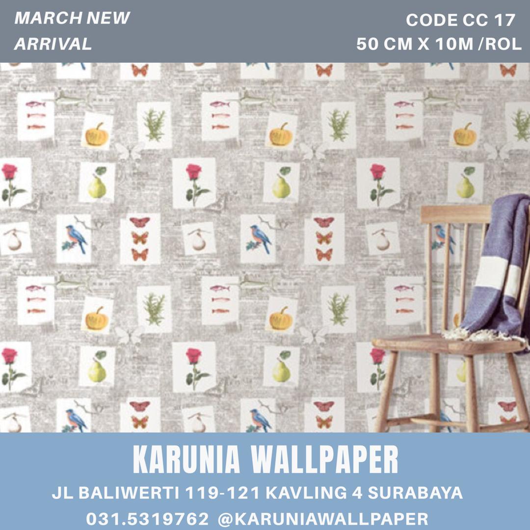 jual dinding wallpaper bunga bunga surabaya