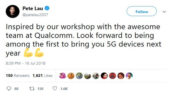 OnePlus 5G Smartphone With Qualcomm Snapdragon 855