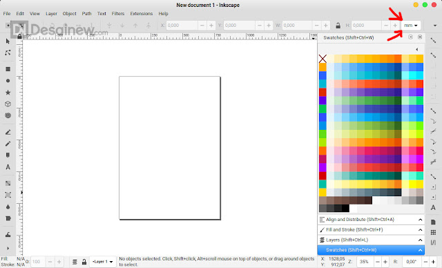 How to set PX size by default in Inkscape Desainew Adobe Illustrator Corel Draw tips trick tutorial graphic design