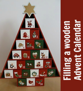 Ideas for filling the boxes in a wooden Advent calendar