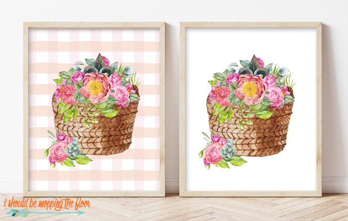 Flower Basket Printable