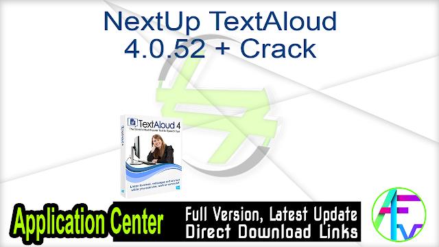 NextUp TextAloud 4.0.52 + Crack