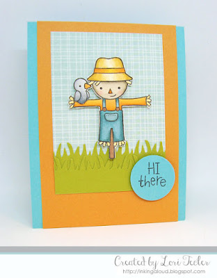 Hi There card-designed by Lori Tecler/Inking Aloud-stamps from Lawn Fawn
