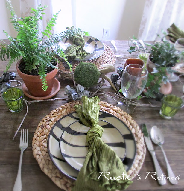 Modern and rustic tablescape for Mother's Day