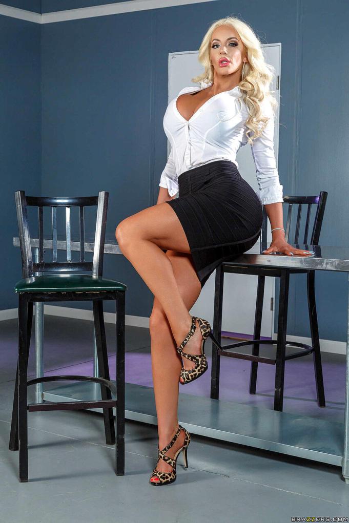 Nicolette Shea Photoshoot in Skirt