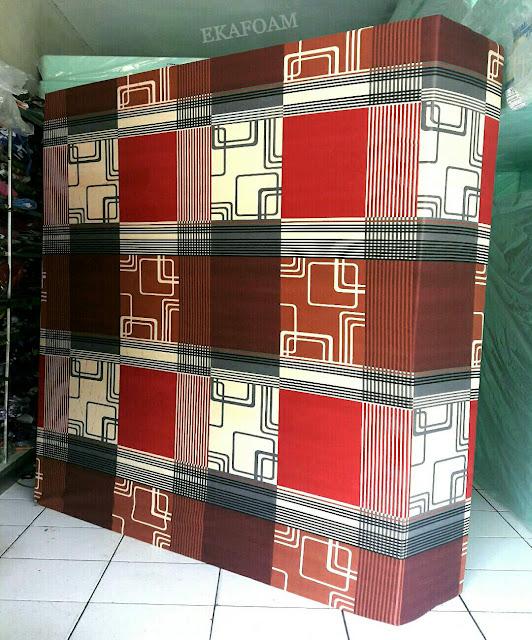 Kasur inoac motif abstrak minimalis sirkuit coklat