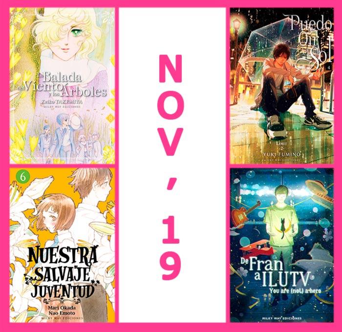 Novedades Milky Way Ediciones noviembre 2019