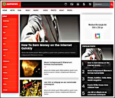 AMPNews Template Download